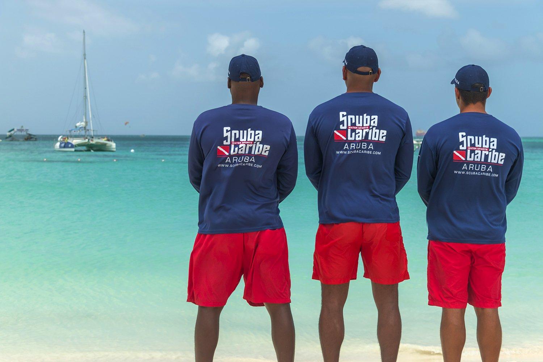 aruba crew on the beach